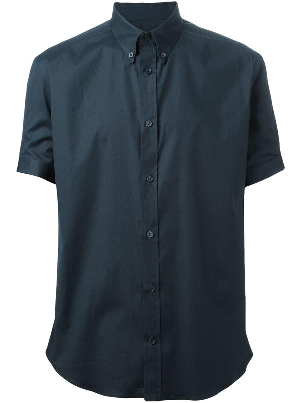 Alexander mcqueen button down shirt in blue for men lyst for Alexander mcqueen shirt men