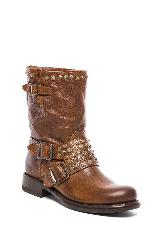 Frye Jenna Studded Short Boot In Brown Cognac Lyst