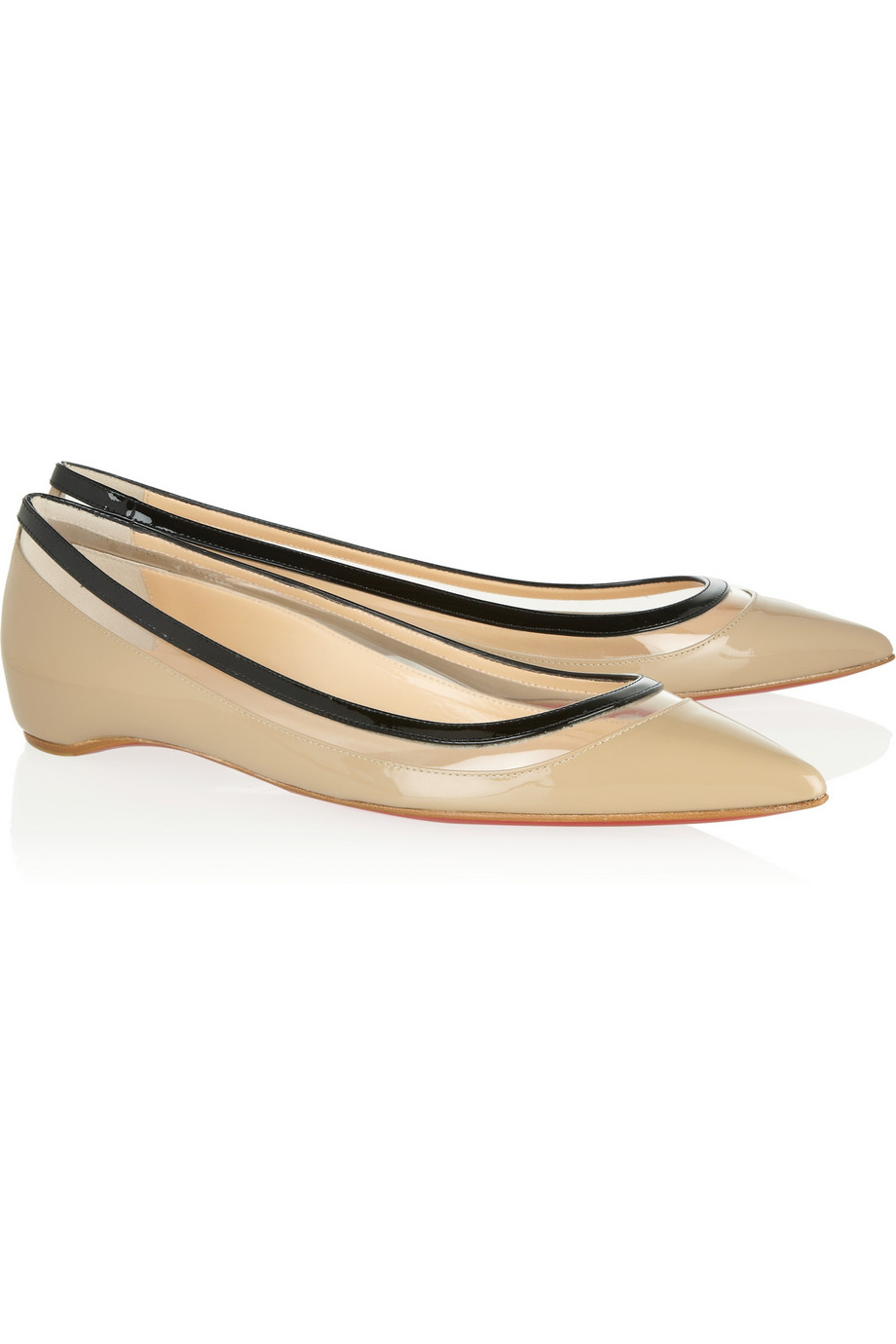 louboutin loafers - christian louboutin flats Beige metallic threading | The Little ...