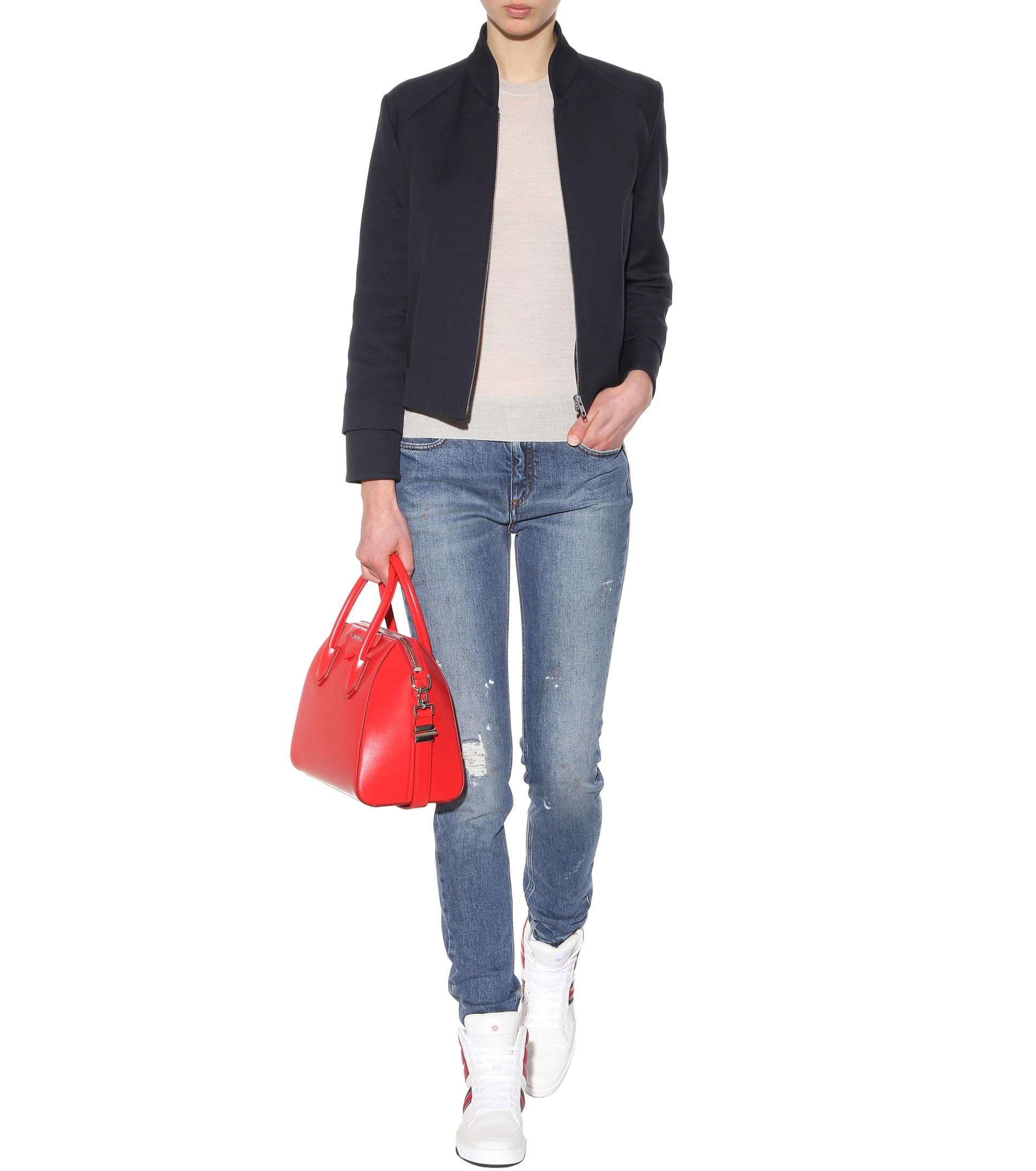 lyst victoria beckham superskinny jeans in blue. Black Bedroom Furniture Sets. Home Design Ideas