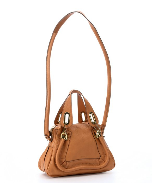 Chlo¨¦ Light Brown Leather Small \u0026#39;Paraty\u0026#39; Convertible Top Handle ...