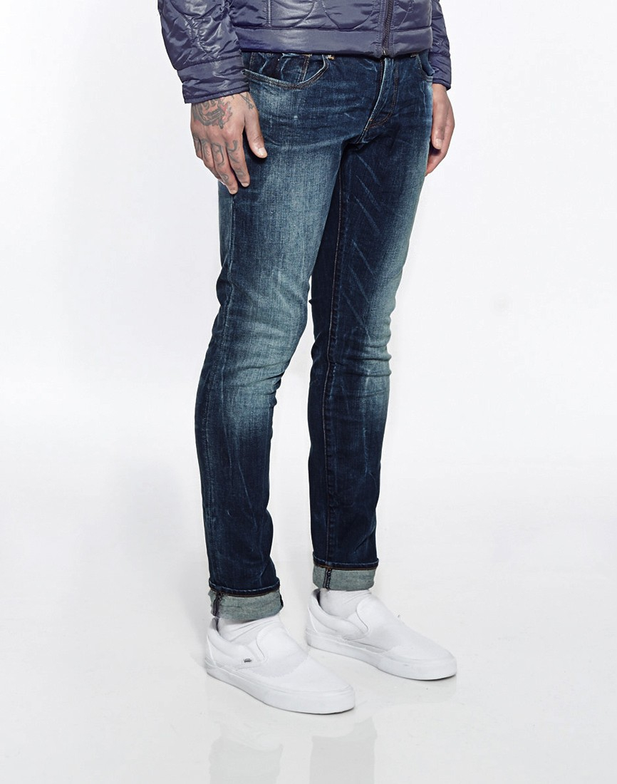 g star raw g star jeans 3301 super slim fit medium aged in. Black Bedroom Furniture Sets. Home Design Ideas