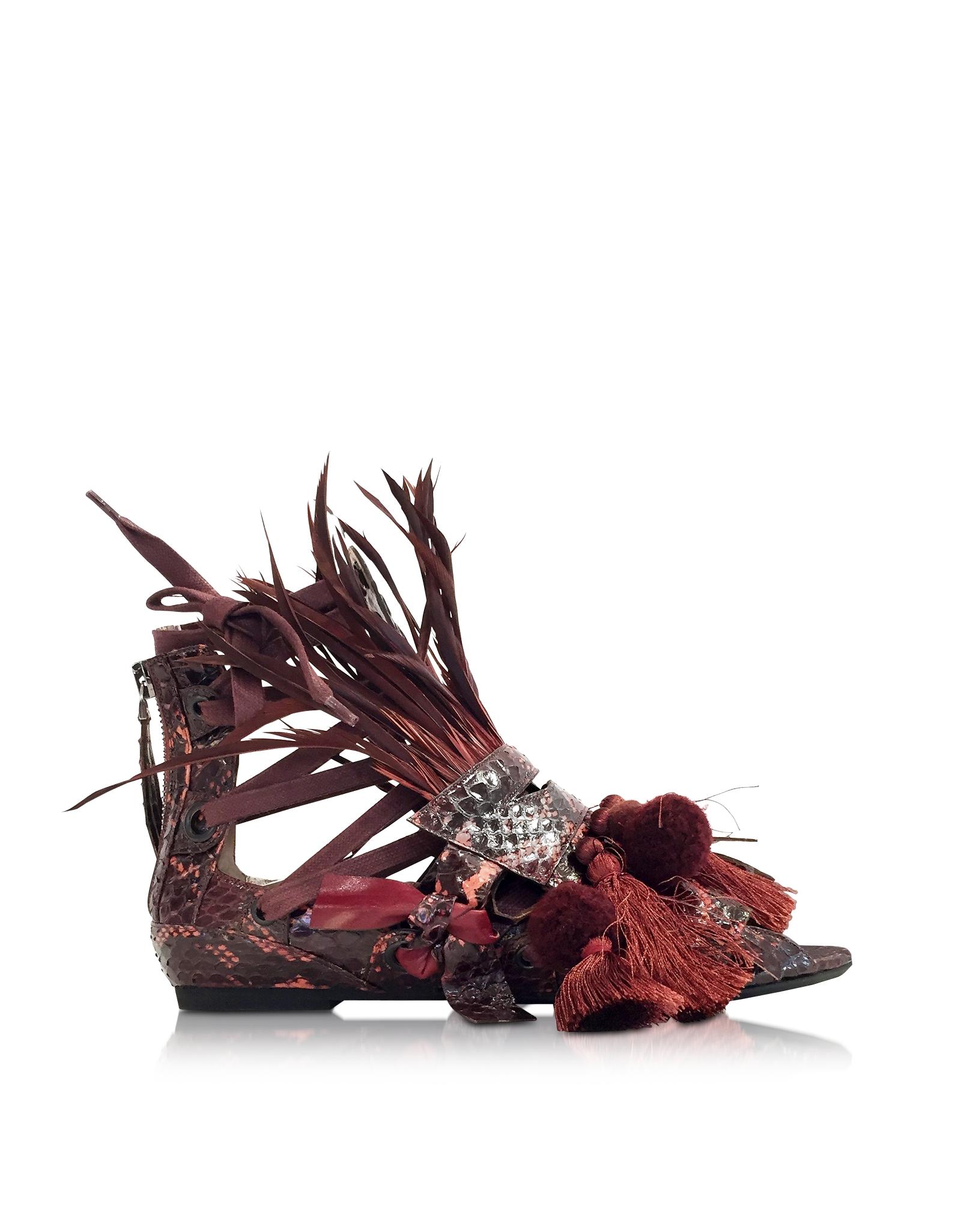 tassel detail flat sandals - Red N°21 oq8TNipK