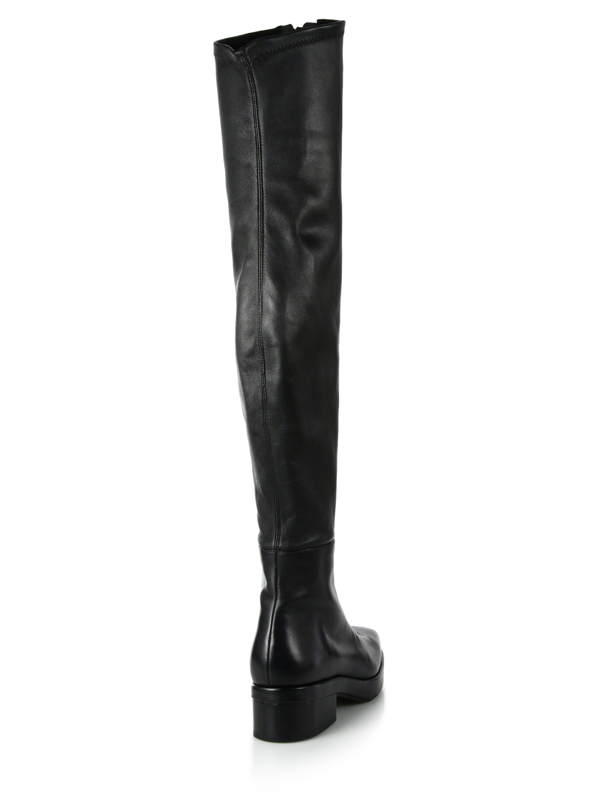 Alexander wang Frederica Leather Zip-front Over-the-knee Boots in ...