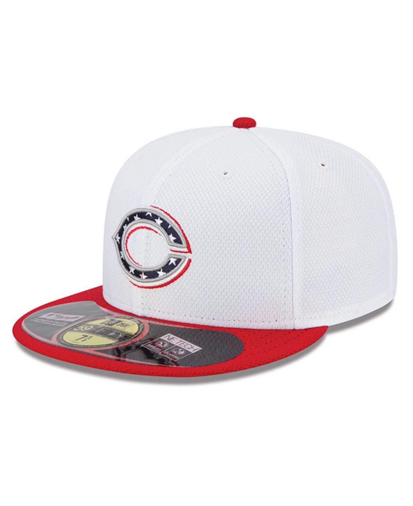 f2c7d6016d6a46 KTZ Cincinnati Reds Mlb 2013 July 4Th Stars & Stripes 59Fifty Cap in White  for Men - Lyst
