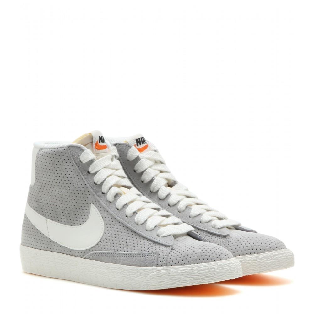 Nike Gray Blazer Suede Mid top Sneakers