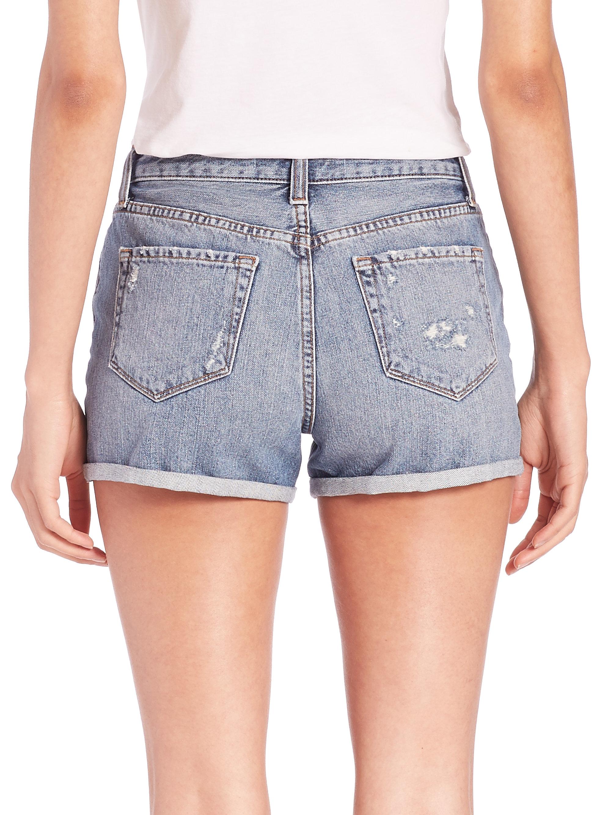 Womens Gracie High-Rise Denim Shorts J Brand 39F0Cy
