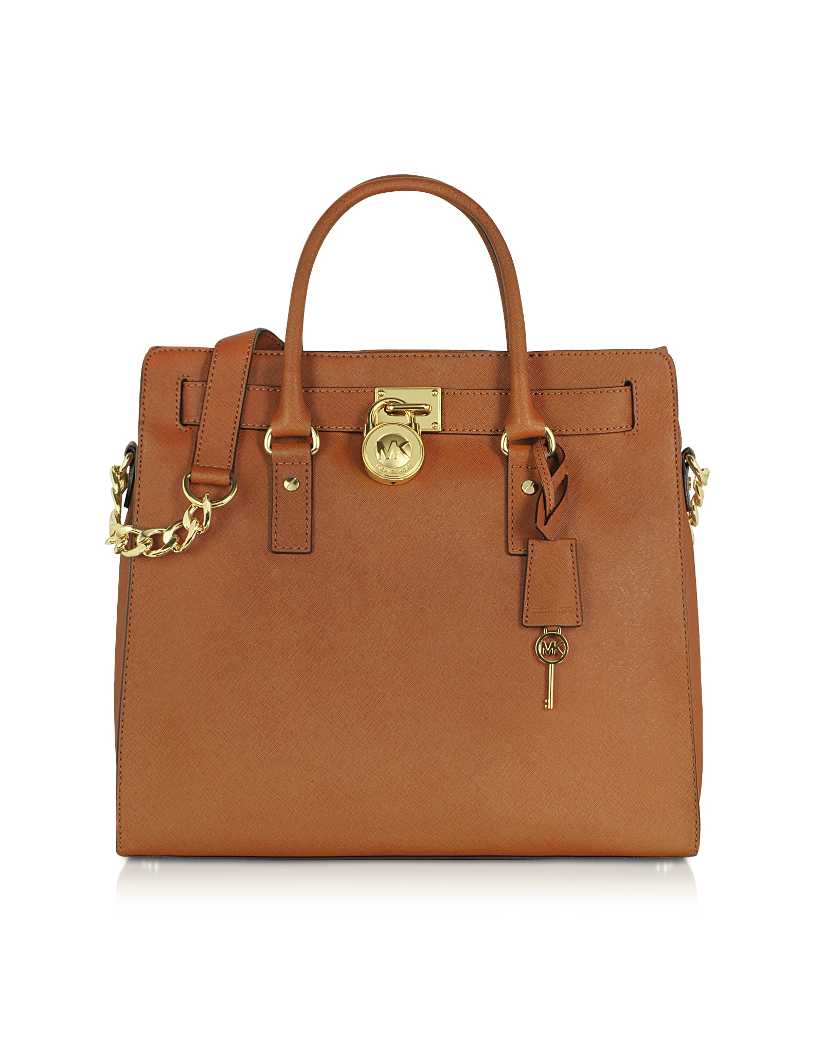 d6010d5dd6e6 Michael Kors Saffiano Tote Brown. Michael Kors Hamilton Saffiano Leather ...