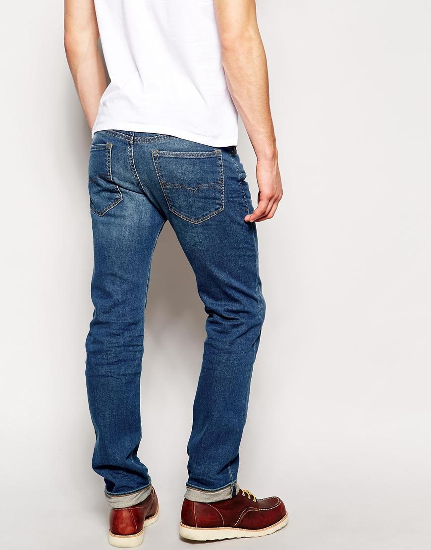 lyst diesel jeans buster regular slim fit 837i stretch light 3d wash in blue for men. Black Bedroom Furniture Sets. Home Design Ideas