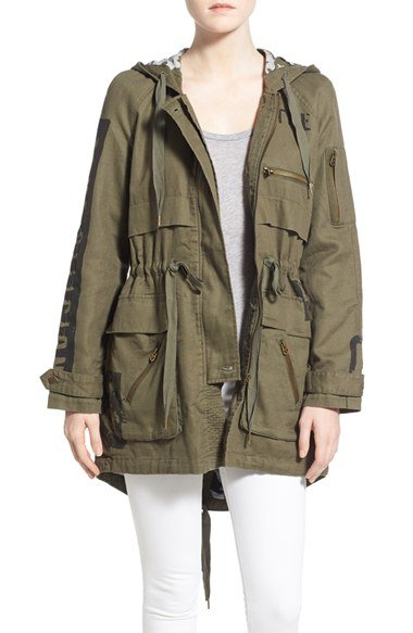 true religion military parka in green lyst. Black Bedroom Furniture Sets. Home Design Ideas