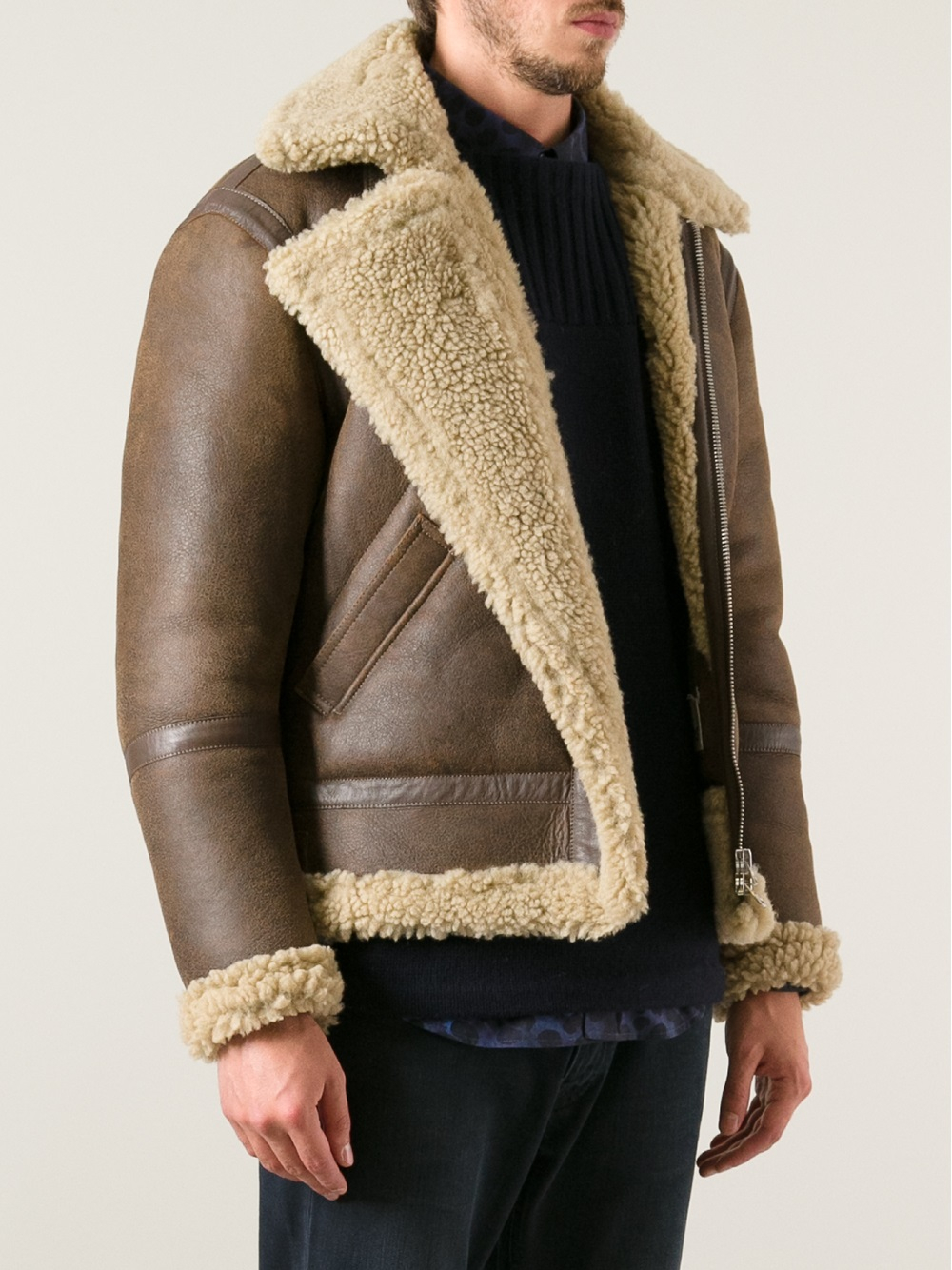Acne studios 'Ian Shearling' Jacket in Brown for Men | Lyst