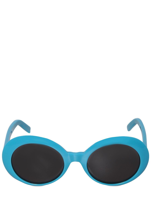 abaac49561a Saint Laurent Sl 98 Shiny Acetate Round Sunglasses in Blue for Men ...
