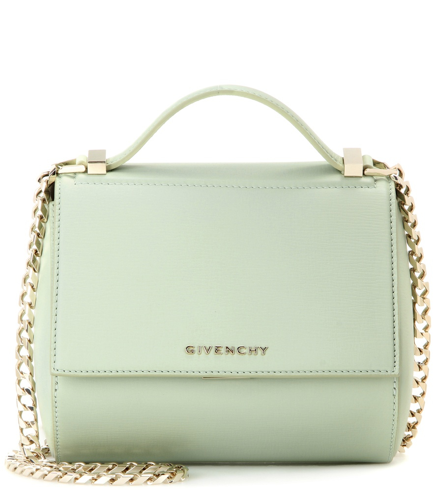 5f14d329704b Lyst - Givenchy Pandora Box Chain Leather Shoulder Bag in Green