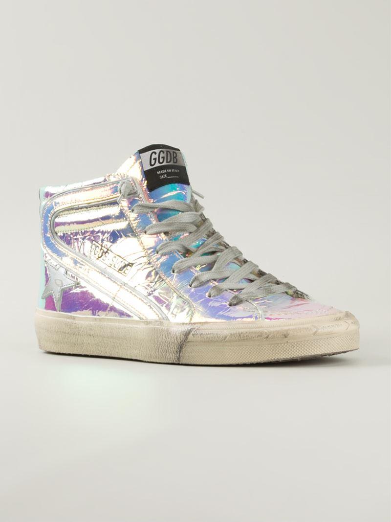 Slide hi-top sneakers - Metallic Golden Goose eXaj5ZNePJ