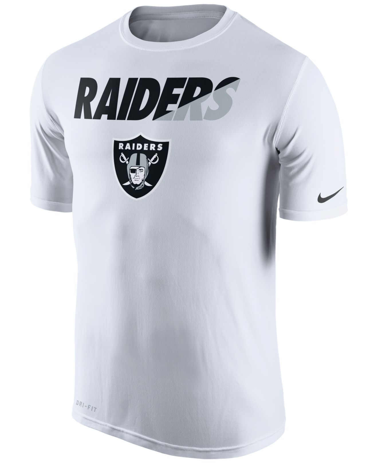 9f9939596 Nike Men's Oakland Raiders Legend Staff Practice T-shirt in White ...