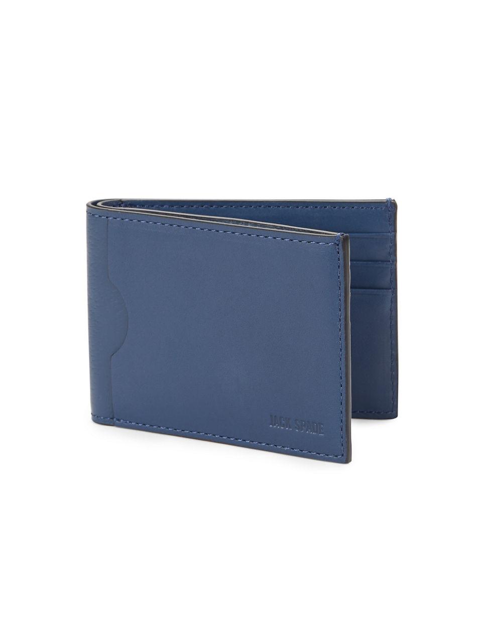 Jack Spade Leather Bifold Wallet In Blue For Men Lyst