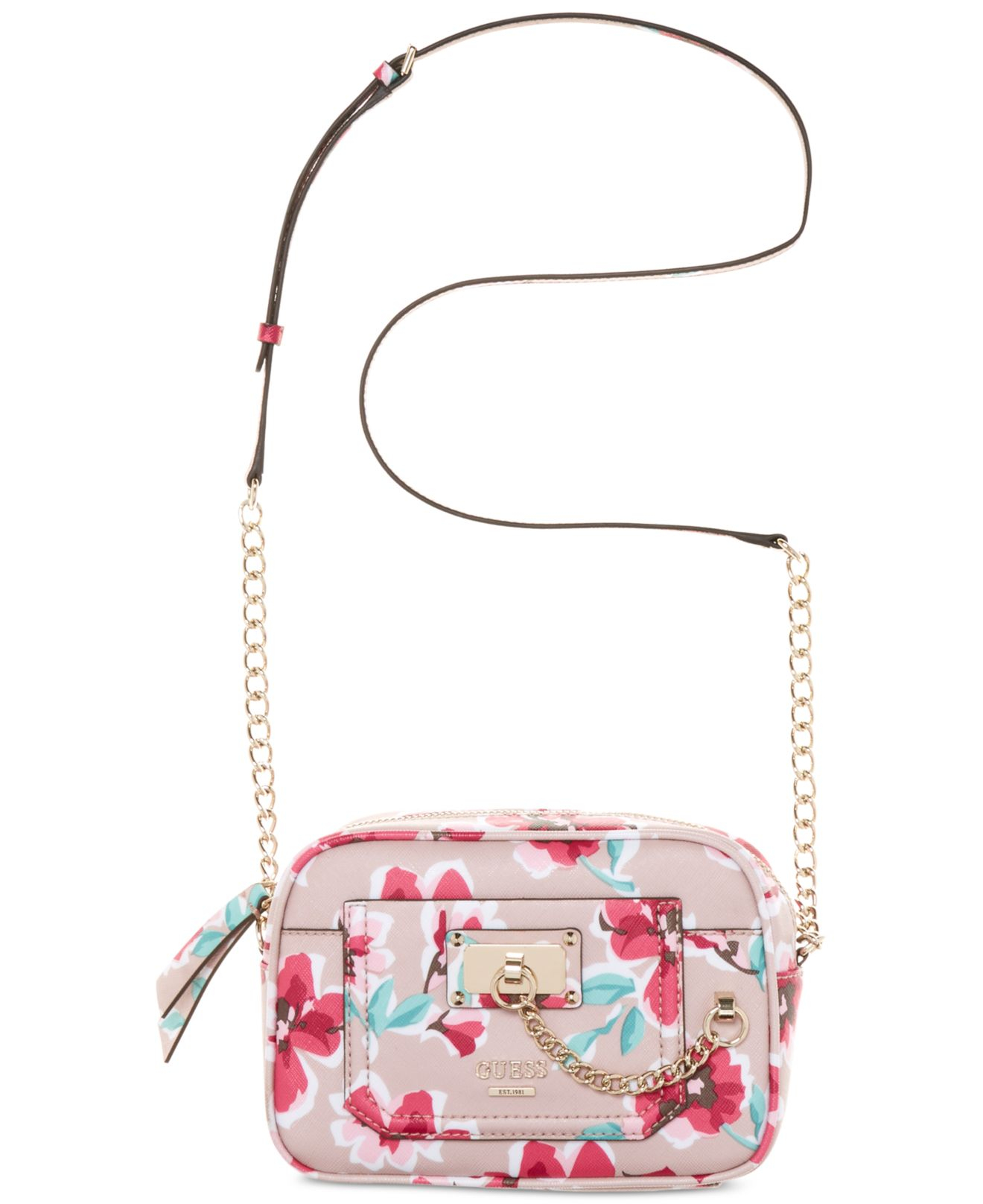 Lyst - Guess Forget Me Not Crossbody Camera Bag In Pink