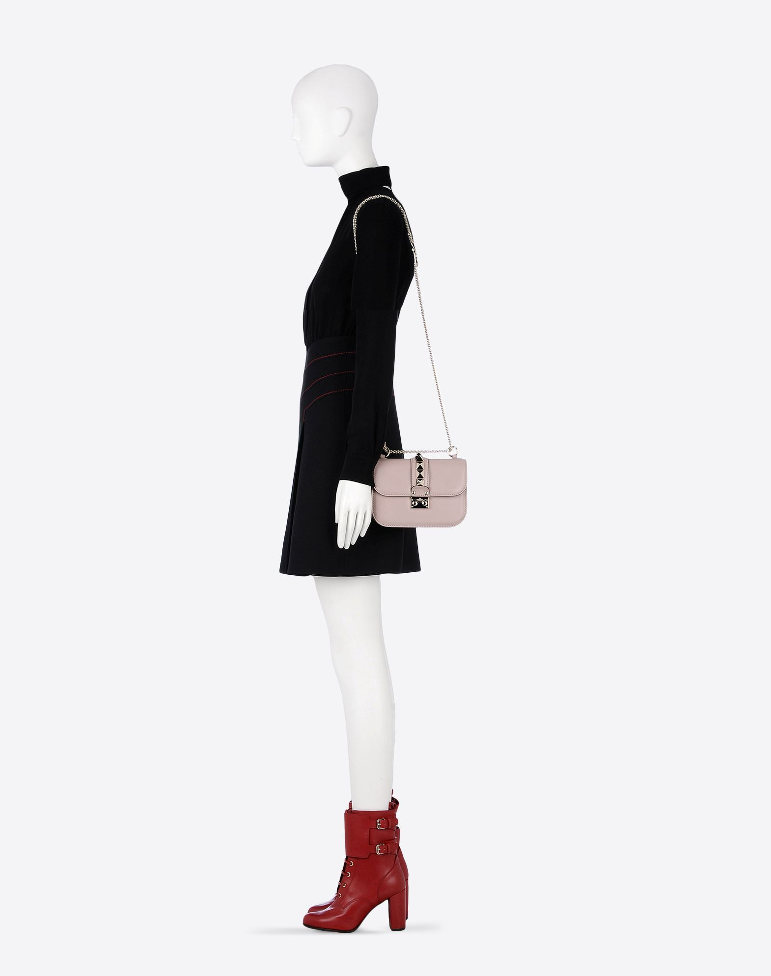 Valentino Small Chain Shoulder Bag in Pink   Lyst