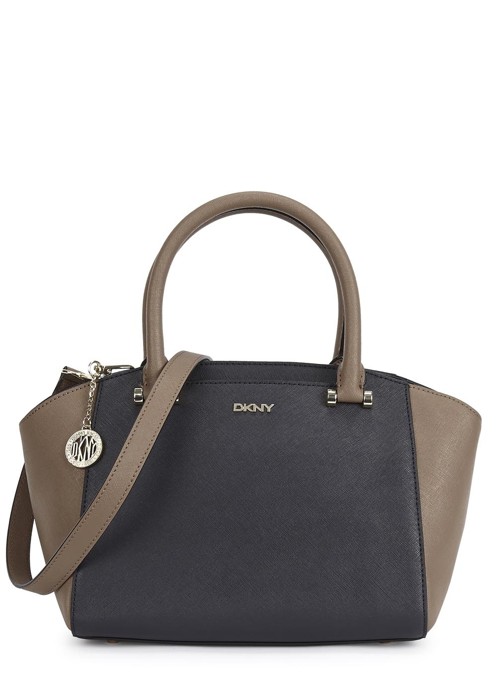 dkny bryant park two tone leather tote in blue lyst. Black Bedroom Furniture Sets. Home Design Ideas