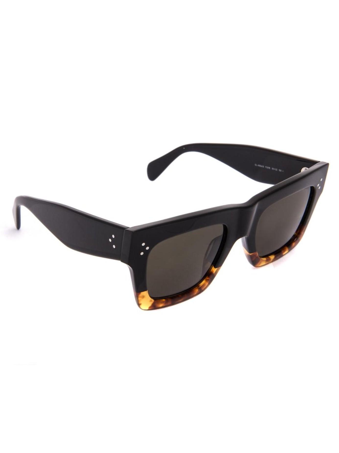 da4d3969c00 Lyst - Céline Square-Framed Acetate Sunglasses in Black