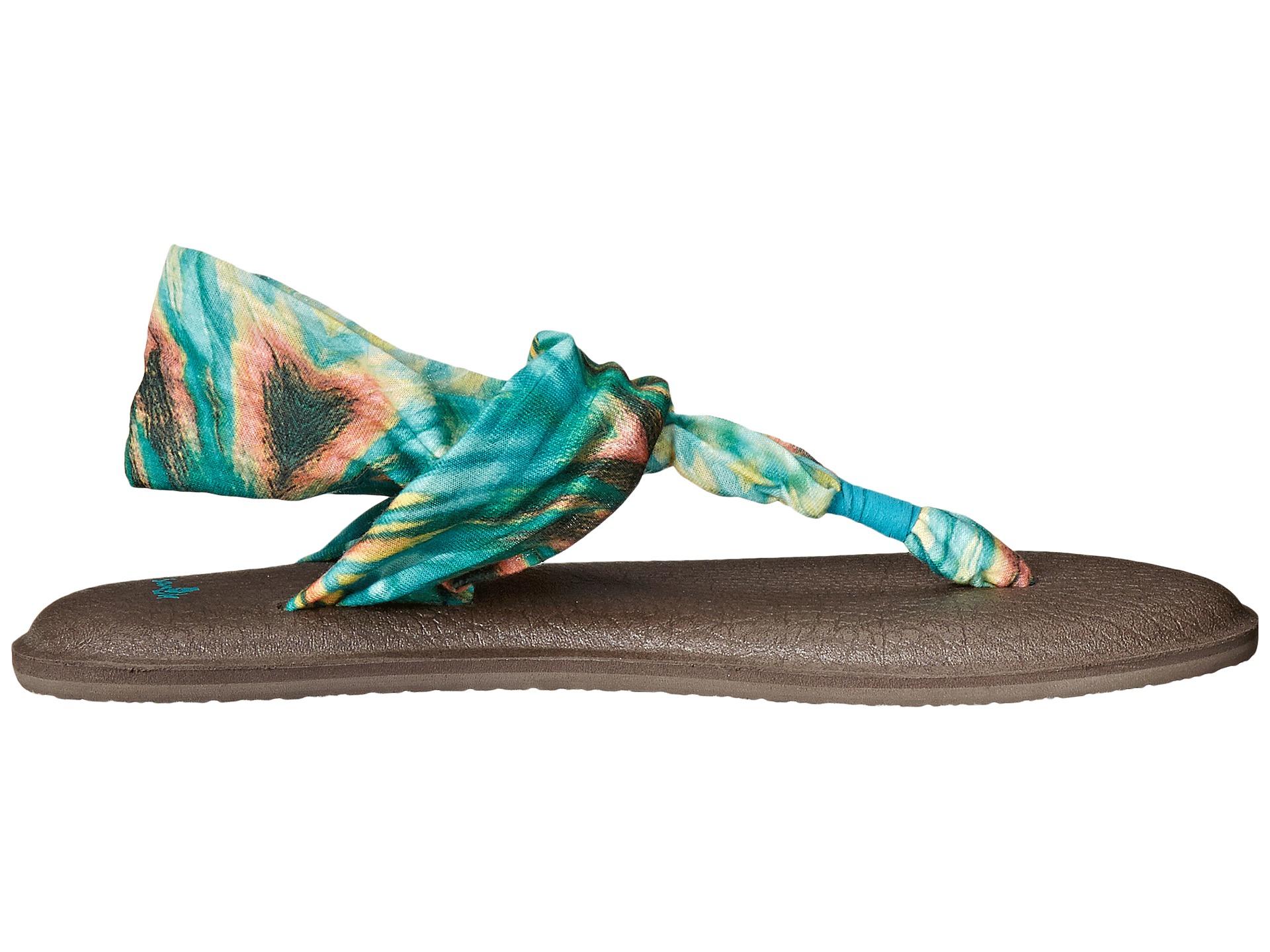 Sanuk Yoga Sling 2 Prints Stretch Knit Sandals vb3pxgOCqW