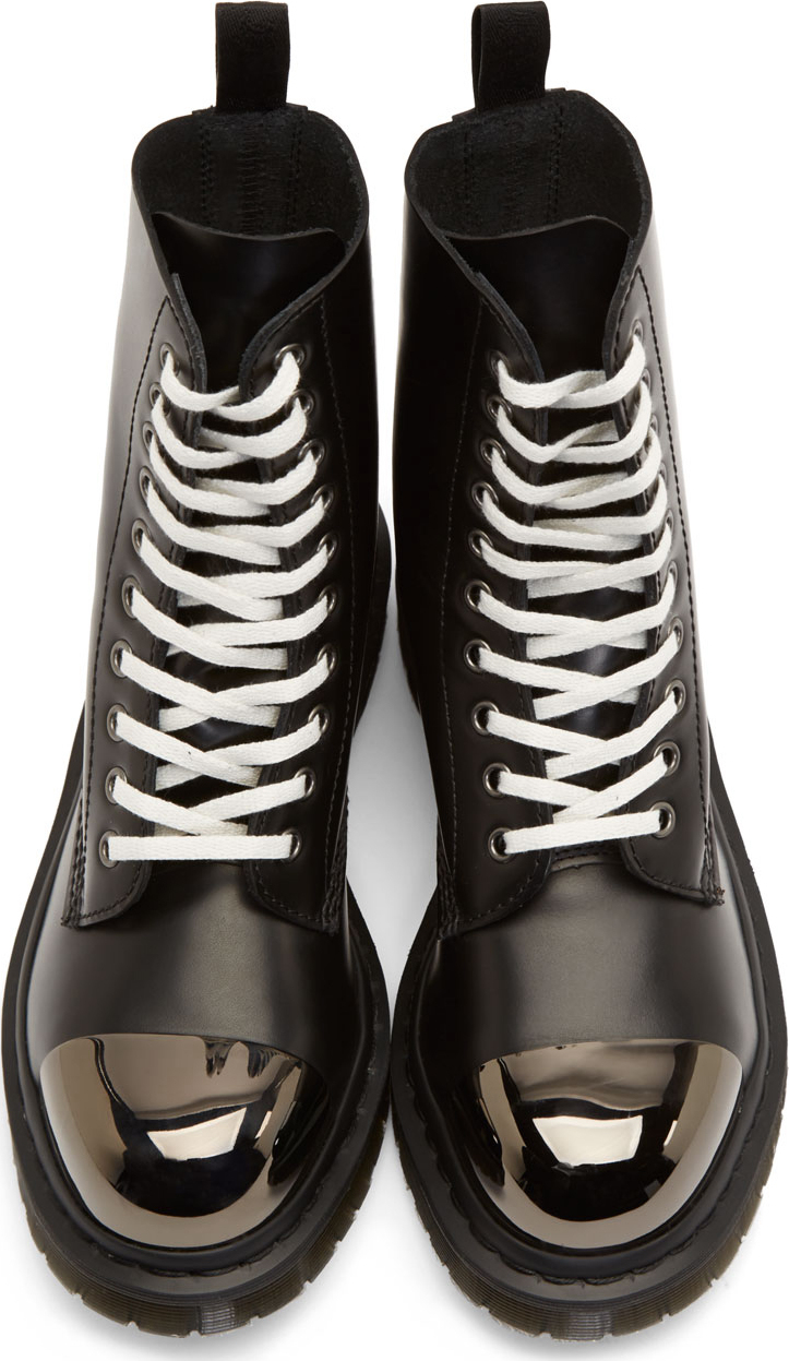 Lyst Dr Martens Black Leather Steel Toe Grasp Boots In