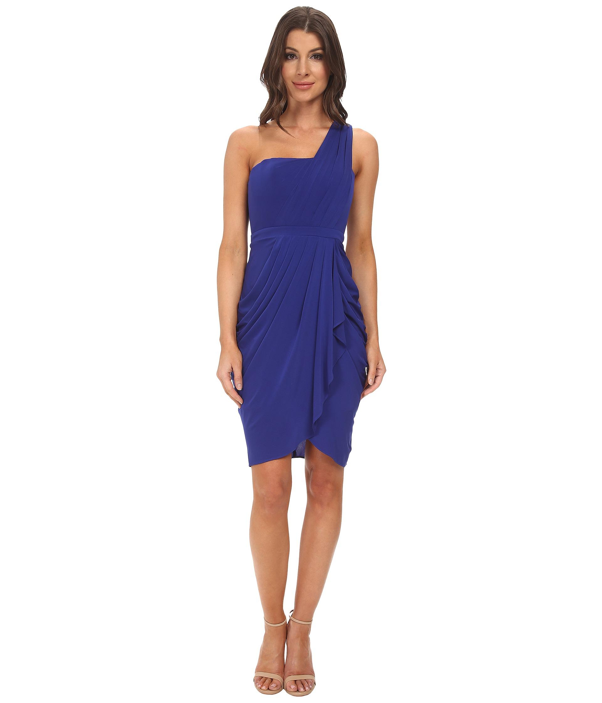 4593d19e40d8 BCBGMAXAZRIA Julieta One Shoulder Dress in Blue - Lyst
