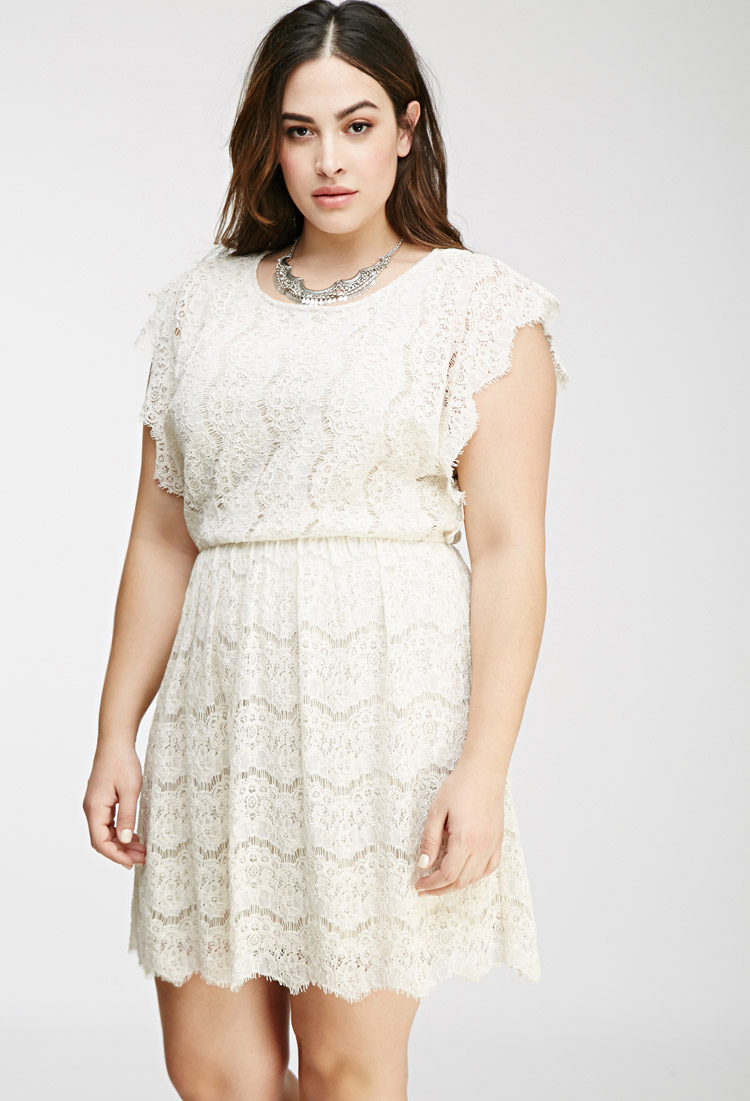 lyst  forever 21 plus size embroidered lace sheath dress