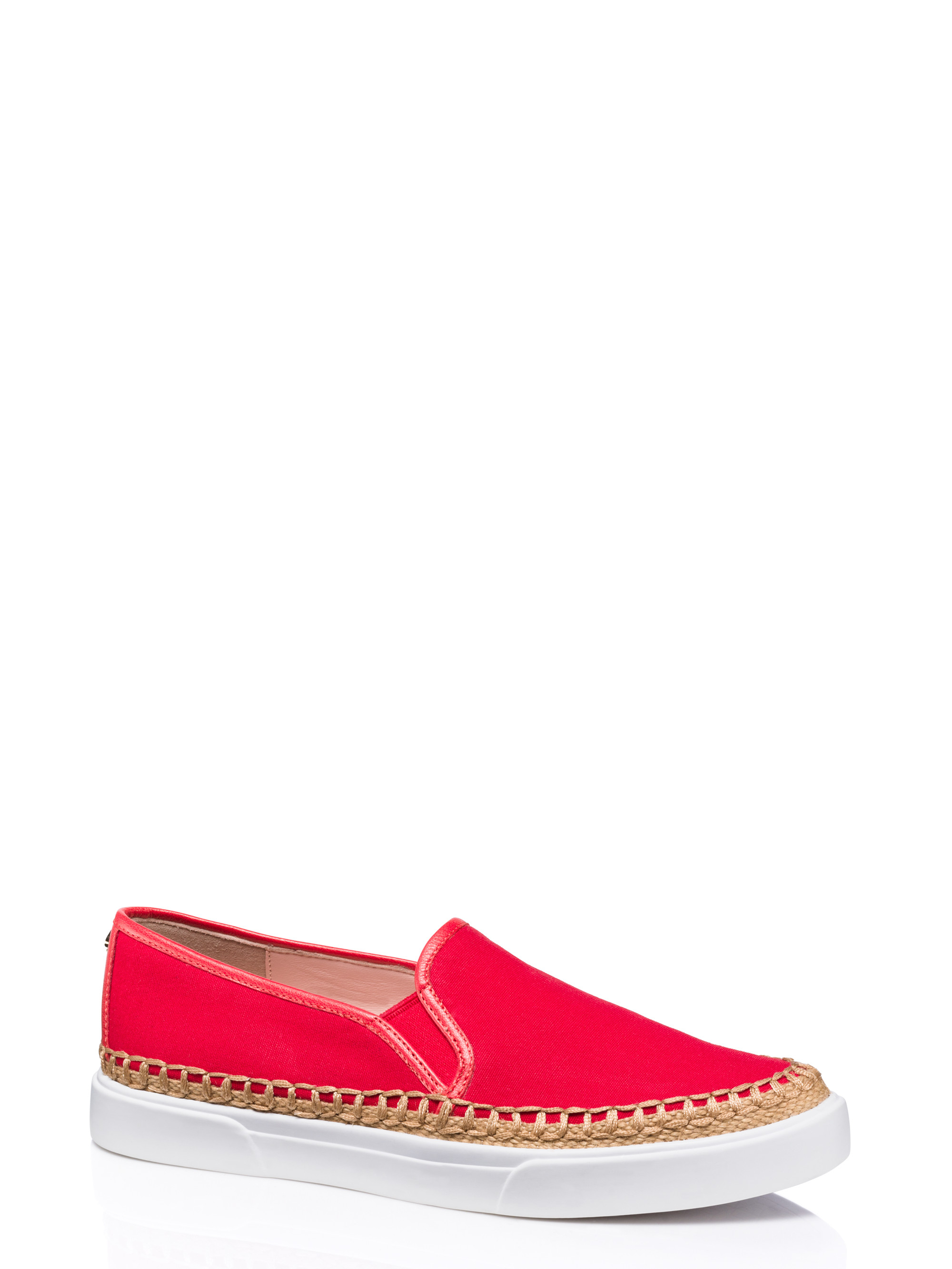 Lyst kate spade new york cory flats in red for Kate spade new york flats