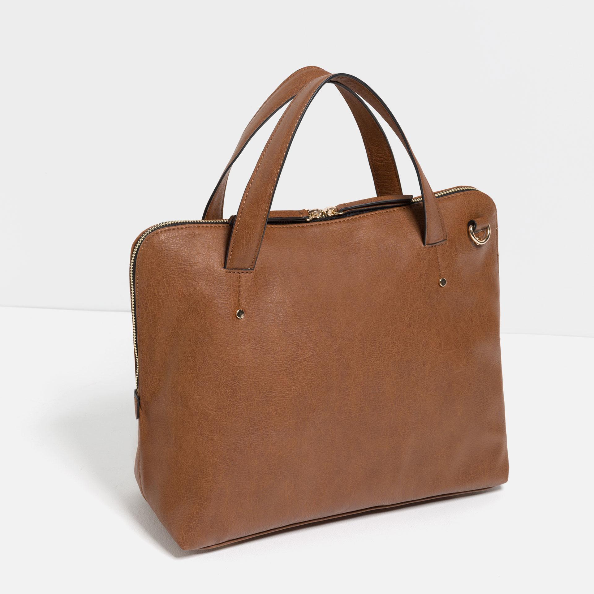Zara City Cross Body Bag In Brown For Men Lyst