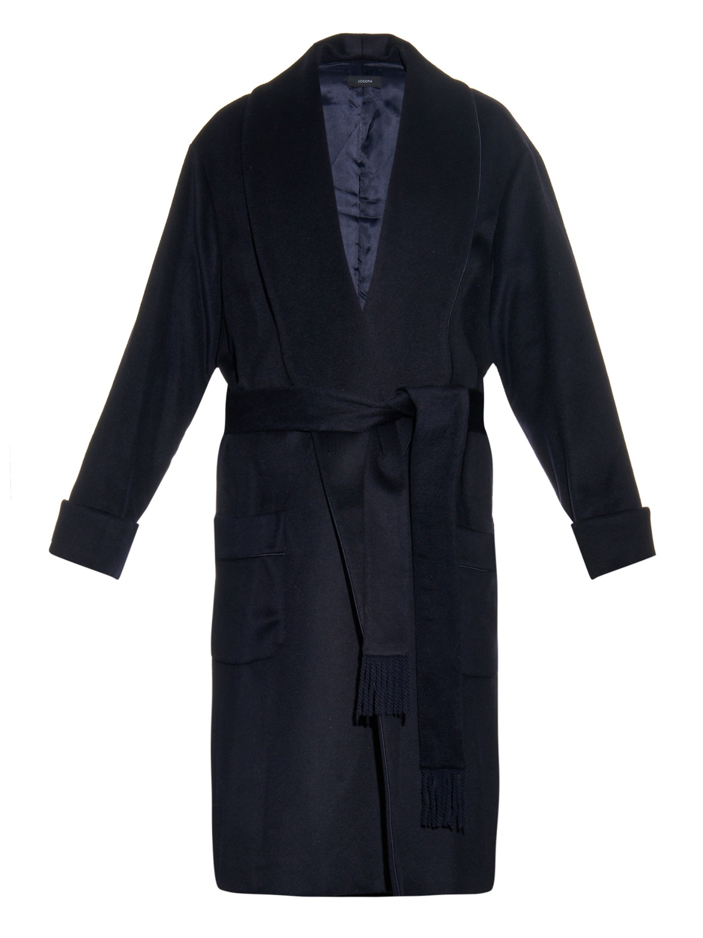 Joseph Page Wool And Cashmere-blend Coat in Blue | Lyst