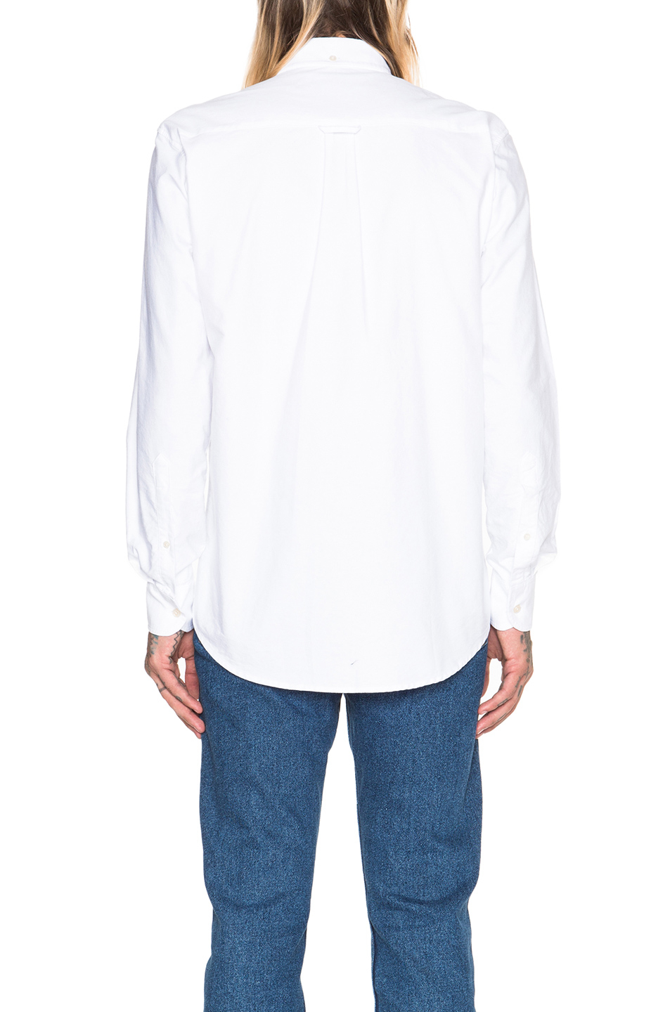 Our legacy heavy oxford button down in white lyst for Heavy button down shirts