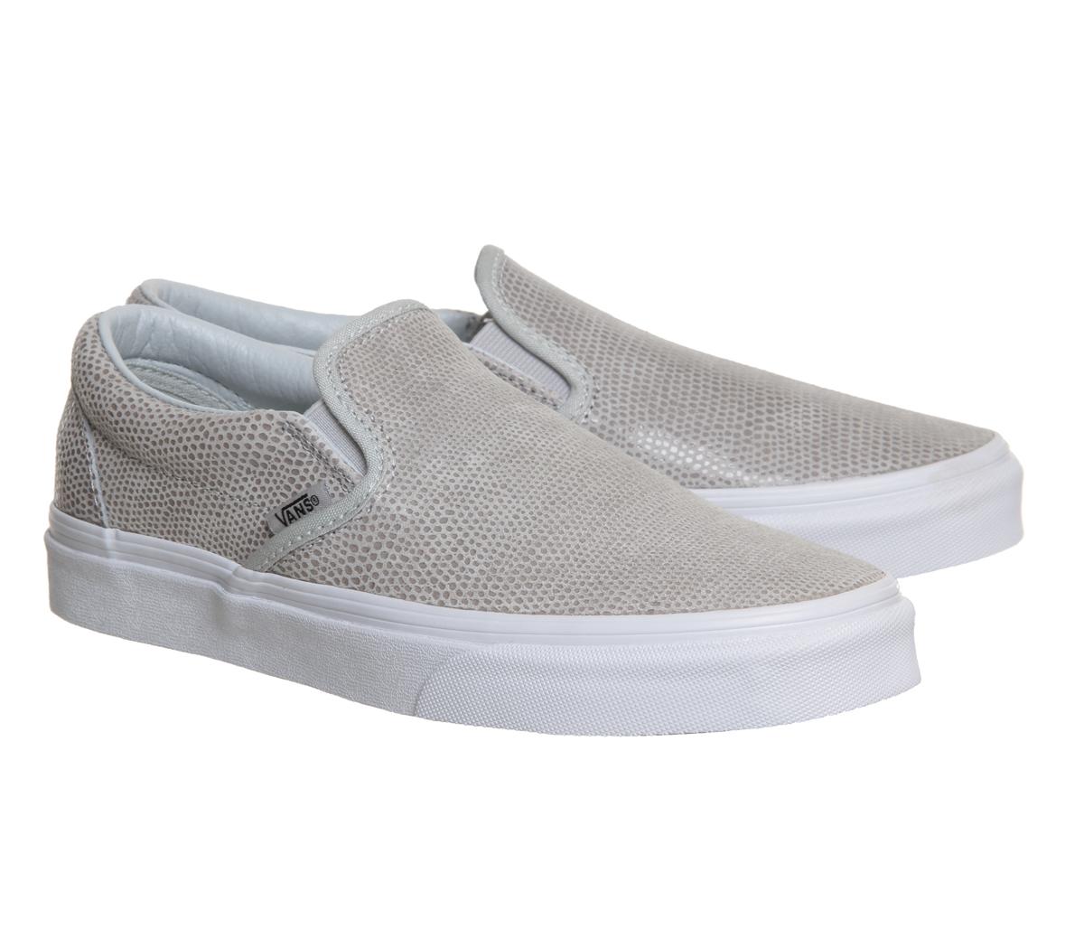 Vans Leather Slip On Shoes Beige