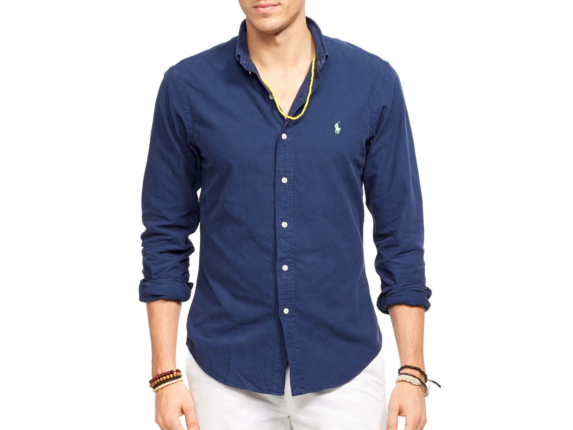 db594e68ba967 Lyst - Polo Ralph Lauren Oxford Shirt - Slim Fit in Blue for Men