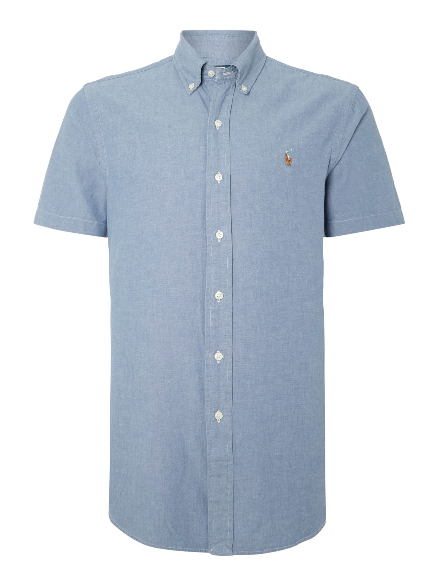 Polo ralph lauren Classic Short Sleeve Slim Fit Shirt in Blue for Men | Lyst