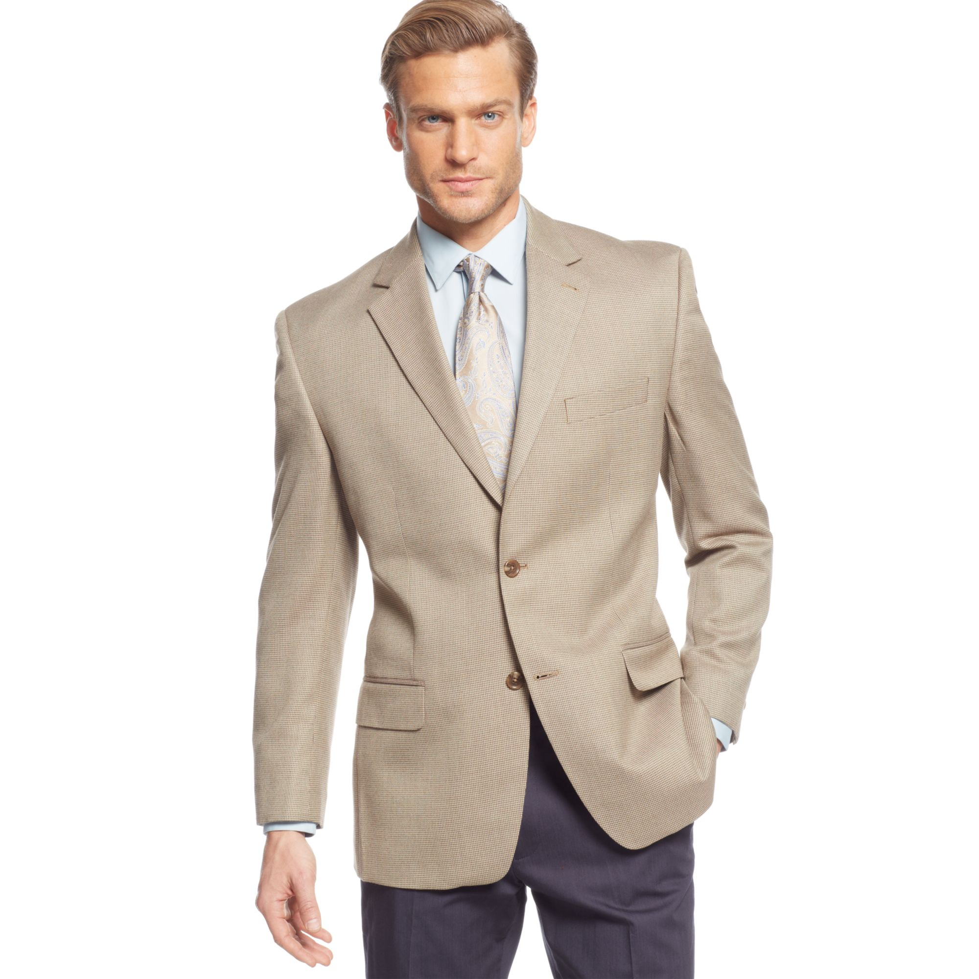 Michael kors Michael Sport Coat Tan Texture in Natural for Men | Lyst