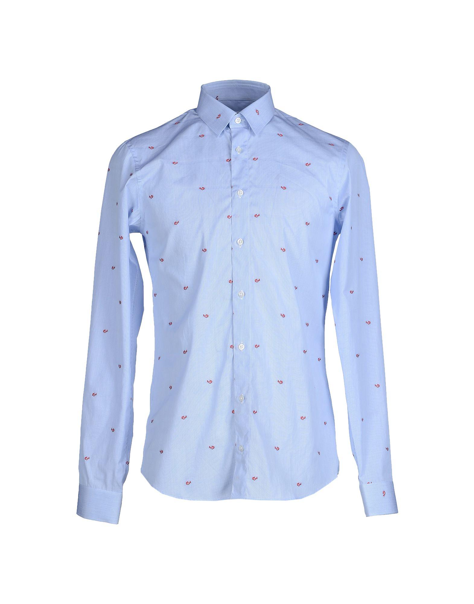 Jil sander shirt in blue for men lyst for Jil sander mens shirt