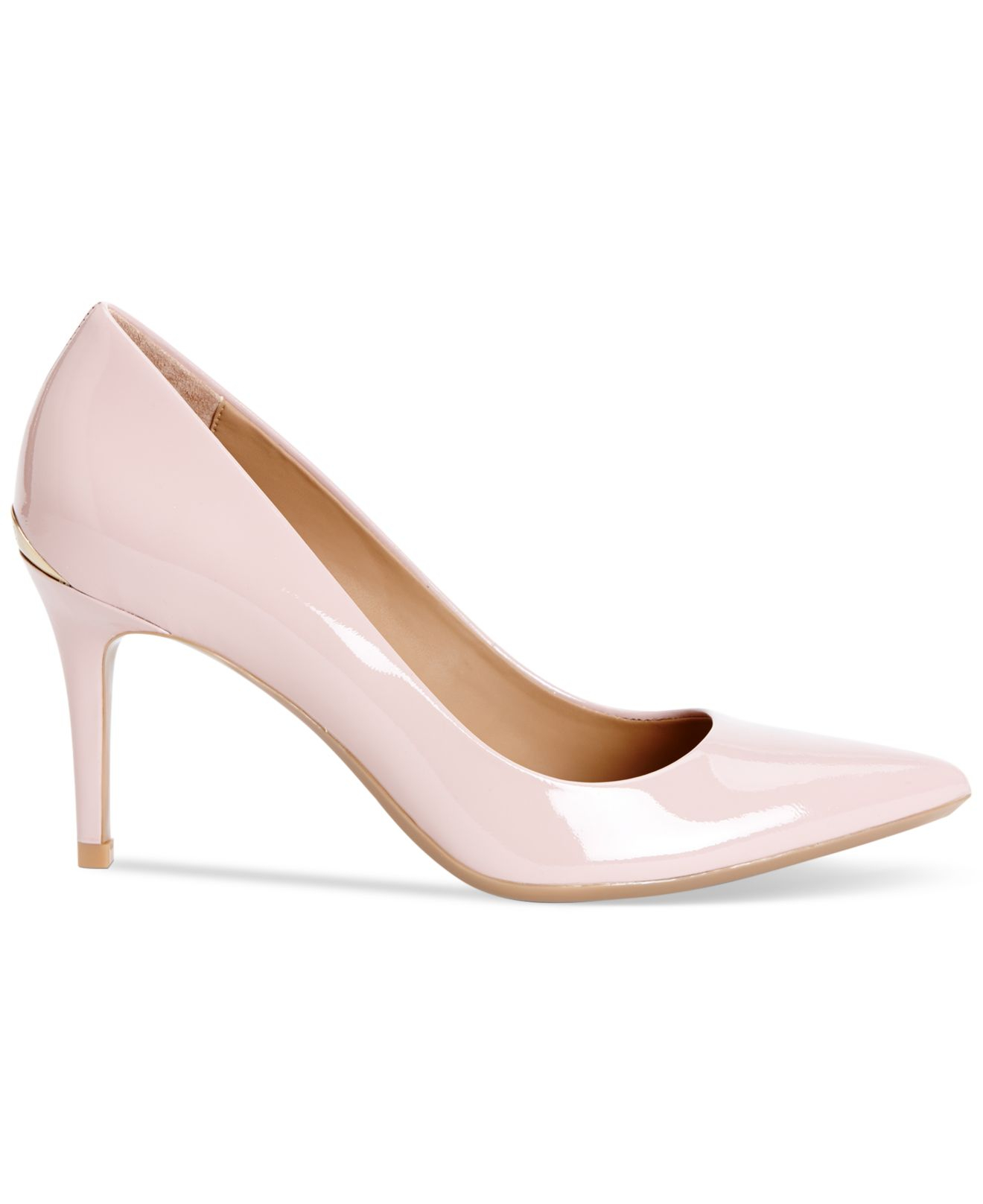 c7d92cd00e58 Lyst - Calvin Klein Women s Gayle Pointed Toe Pumps in Pink