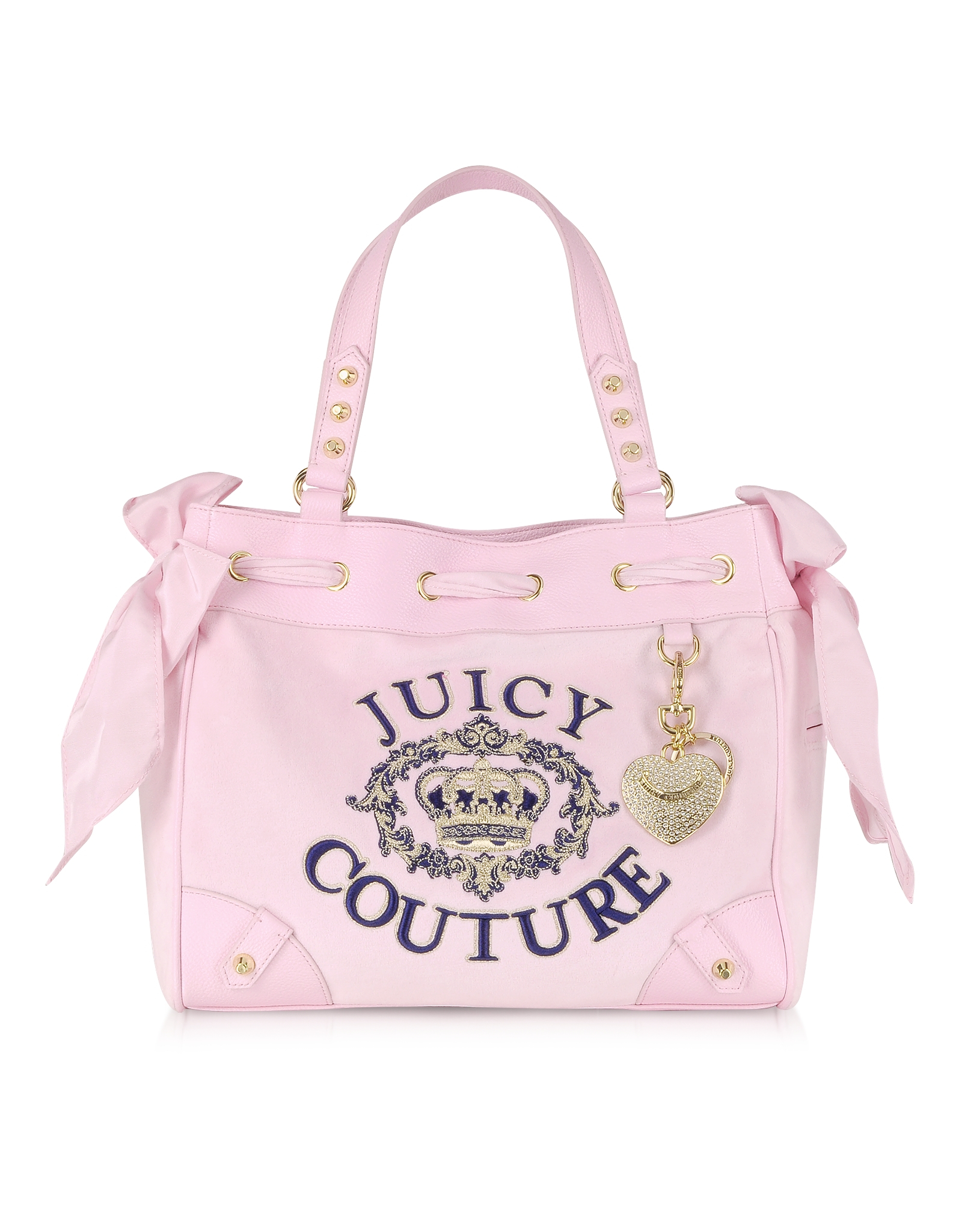 Lyst - Juicy Couture Juicy Crown Velour Daydreamer Tote in Pink fd9a525df