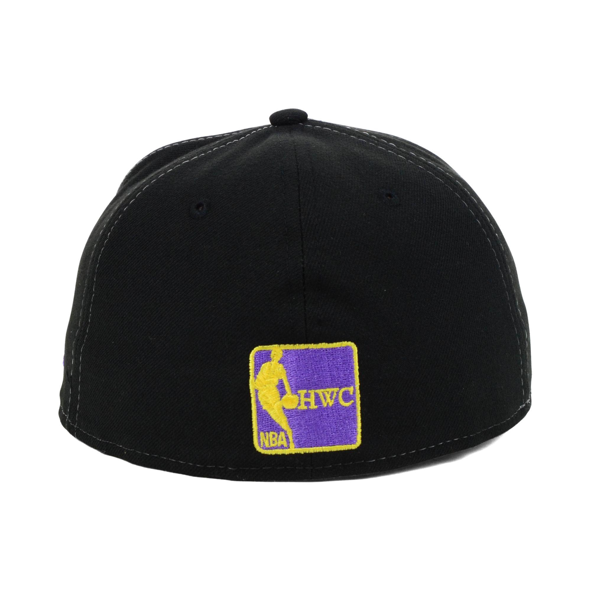 de309c55fdf Lyst - KTZ Los Angeles Lakers Nba Hardwood Classics 59fifty Cap in ...