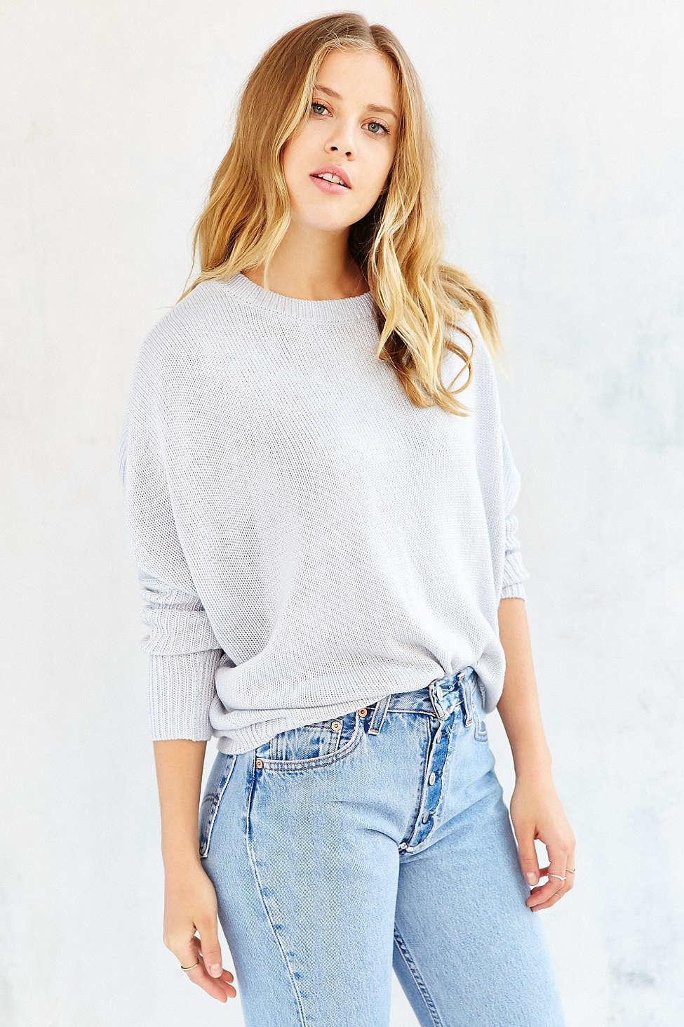 Olive & oak Basic Dolman Sweater in White | Lyst