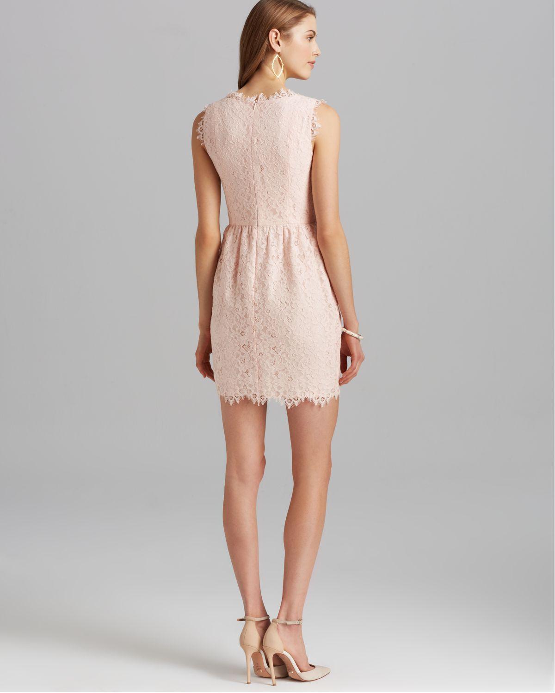 Shoshanna Dress - Sierra Sleeveless Lace Sheath in Pink   Lyst