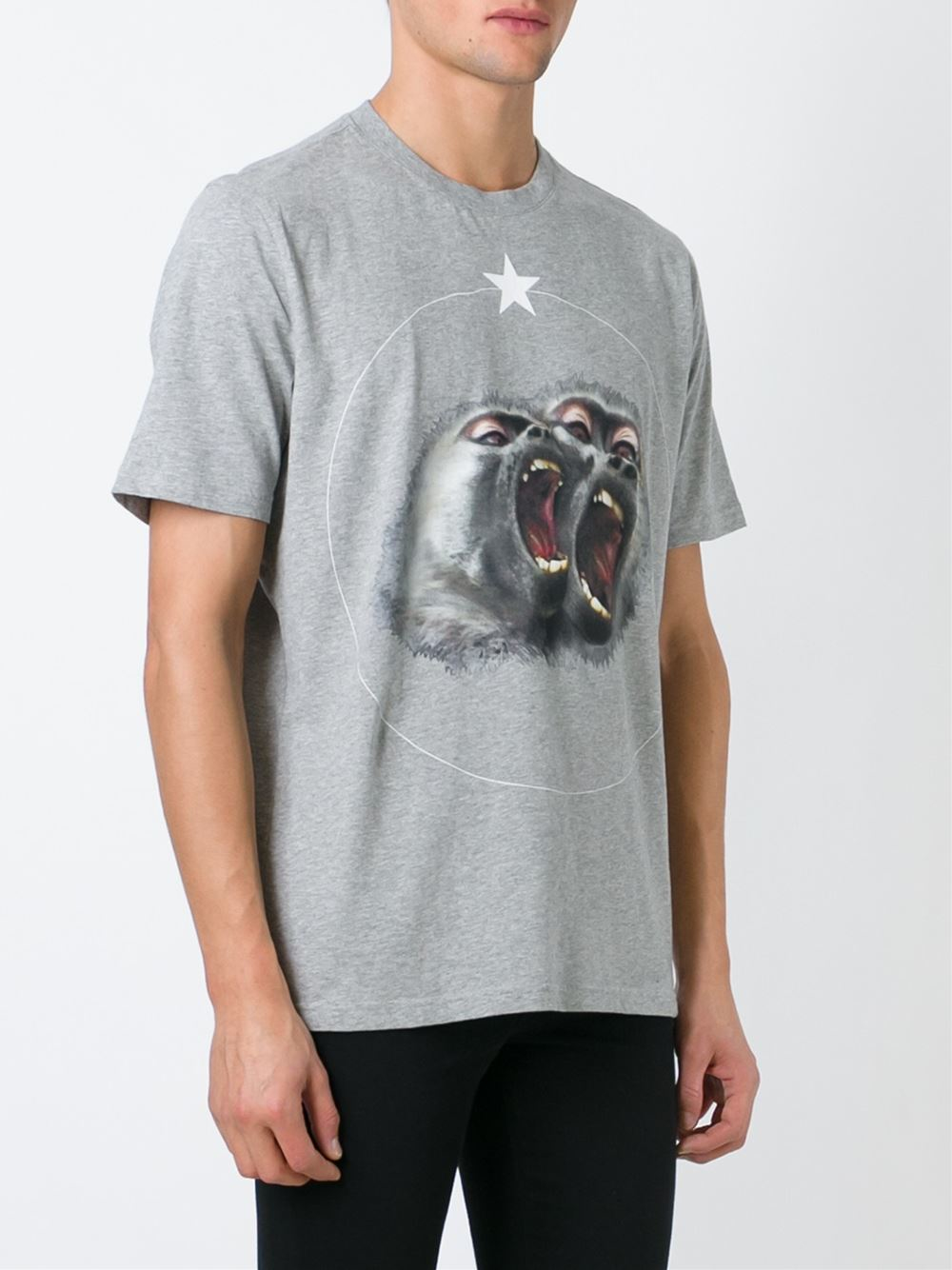 c53ae926 Givenchy Monkey Brothers Printed T-shirt in Gray - Lyst
