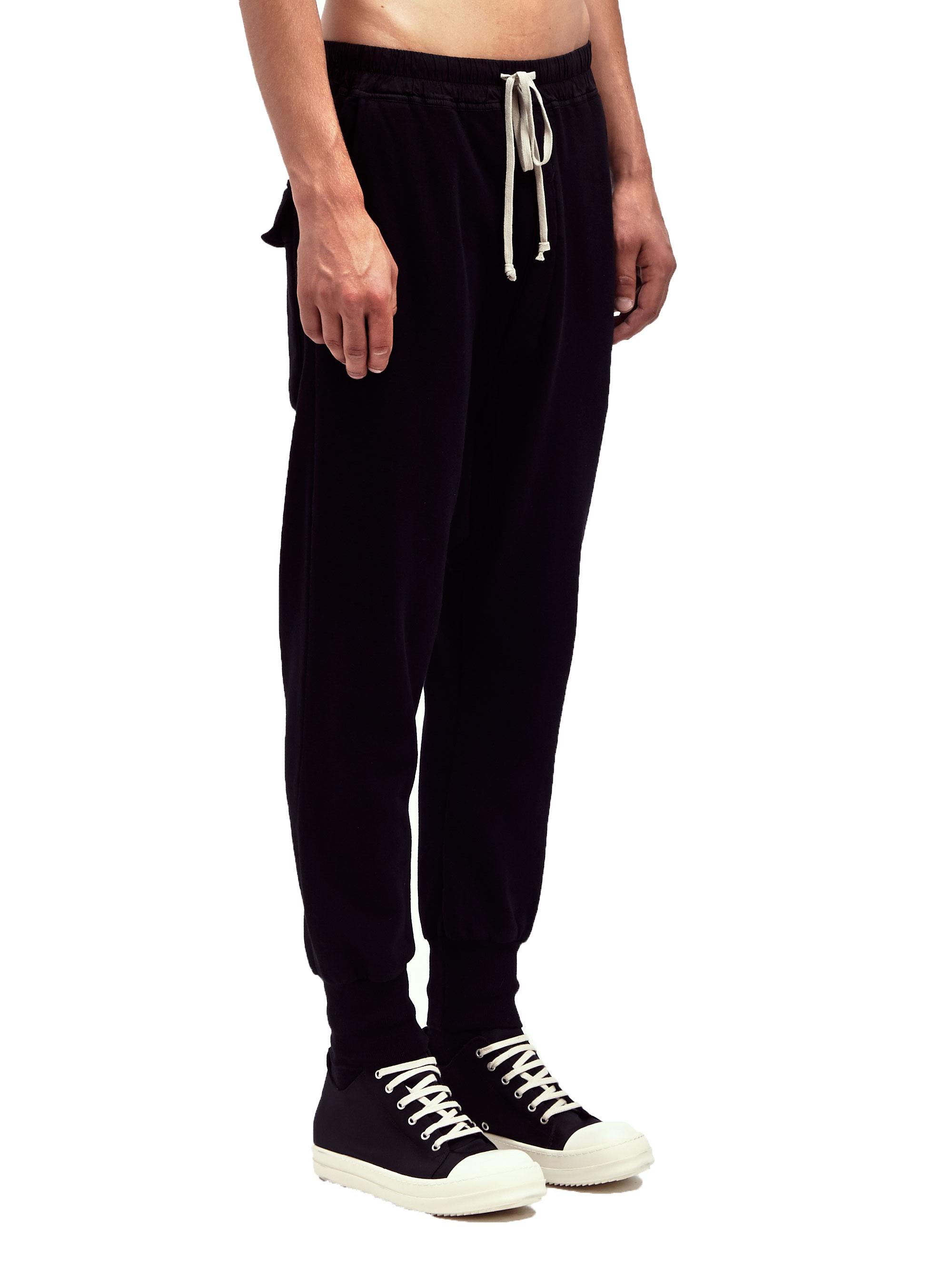 Sale Geniue Stockist Rick Owens Long Drawstring Pants in Black Discount Genuine Discount Find Great qTF5S07N