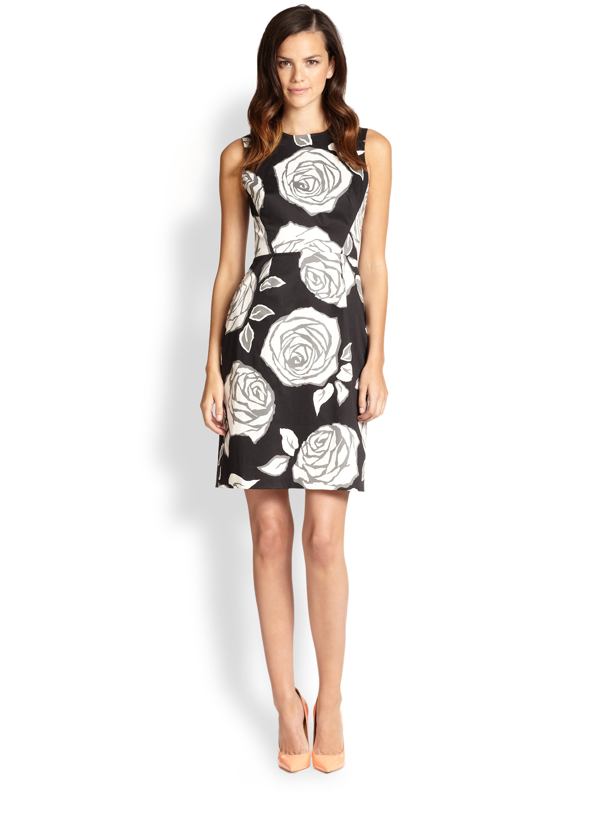 5fe354ea5351 Lyst - Kate Spade Aires Rose Abbey Dress