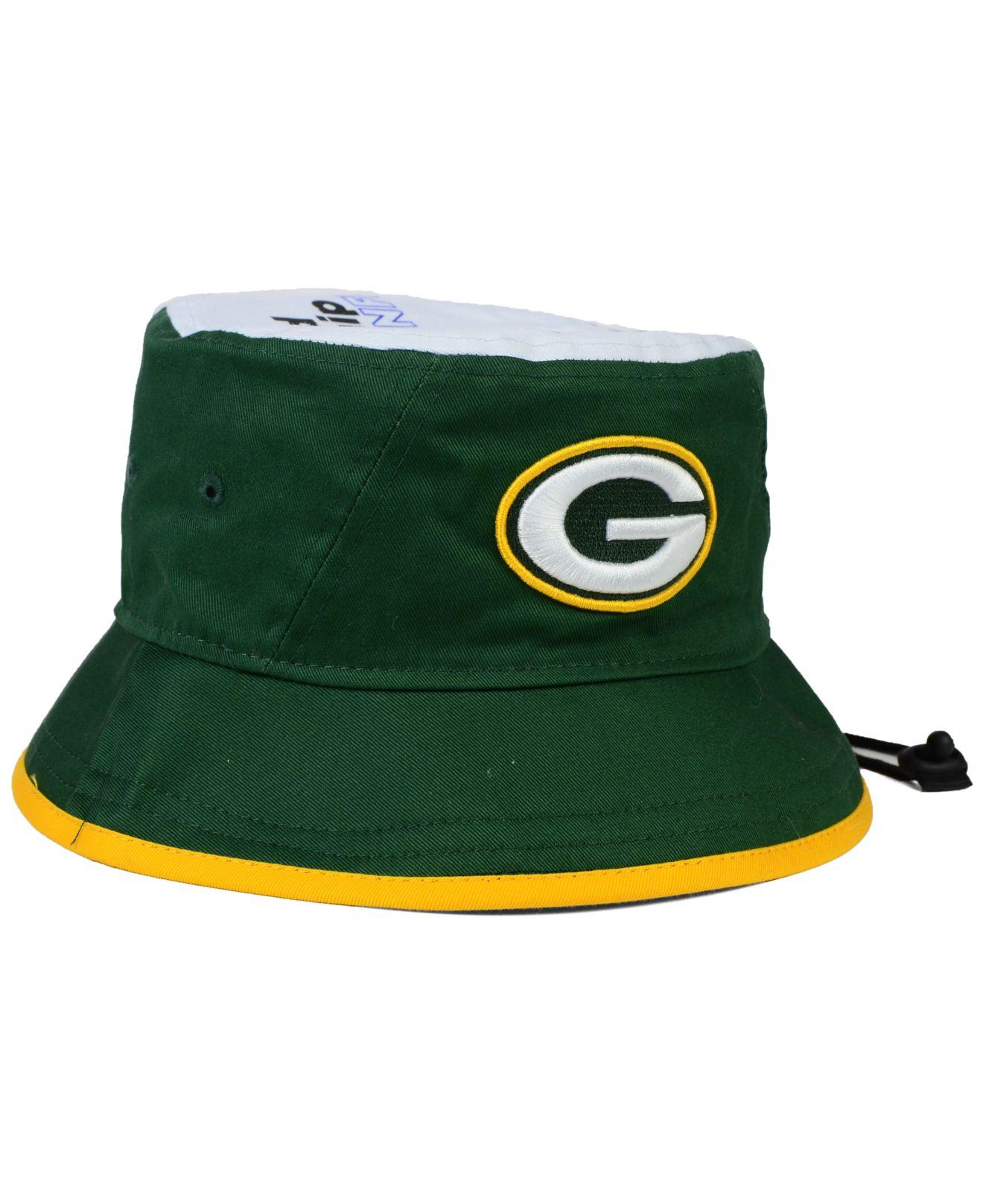 120e2fb70 Lyst - KTZ Green Bay Packers Traveler Bucket Hat in Green for Men