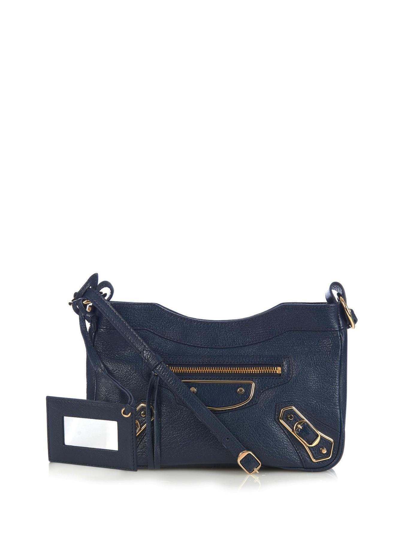 84807c52e7 Balenciaga Metallic-Edge Hip Cross-Body Bag in Blue - Lyst