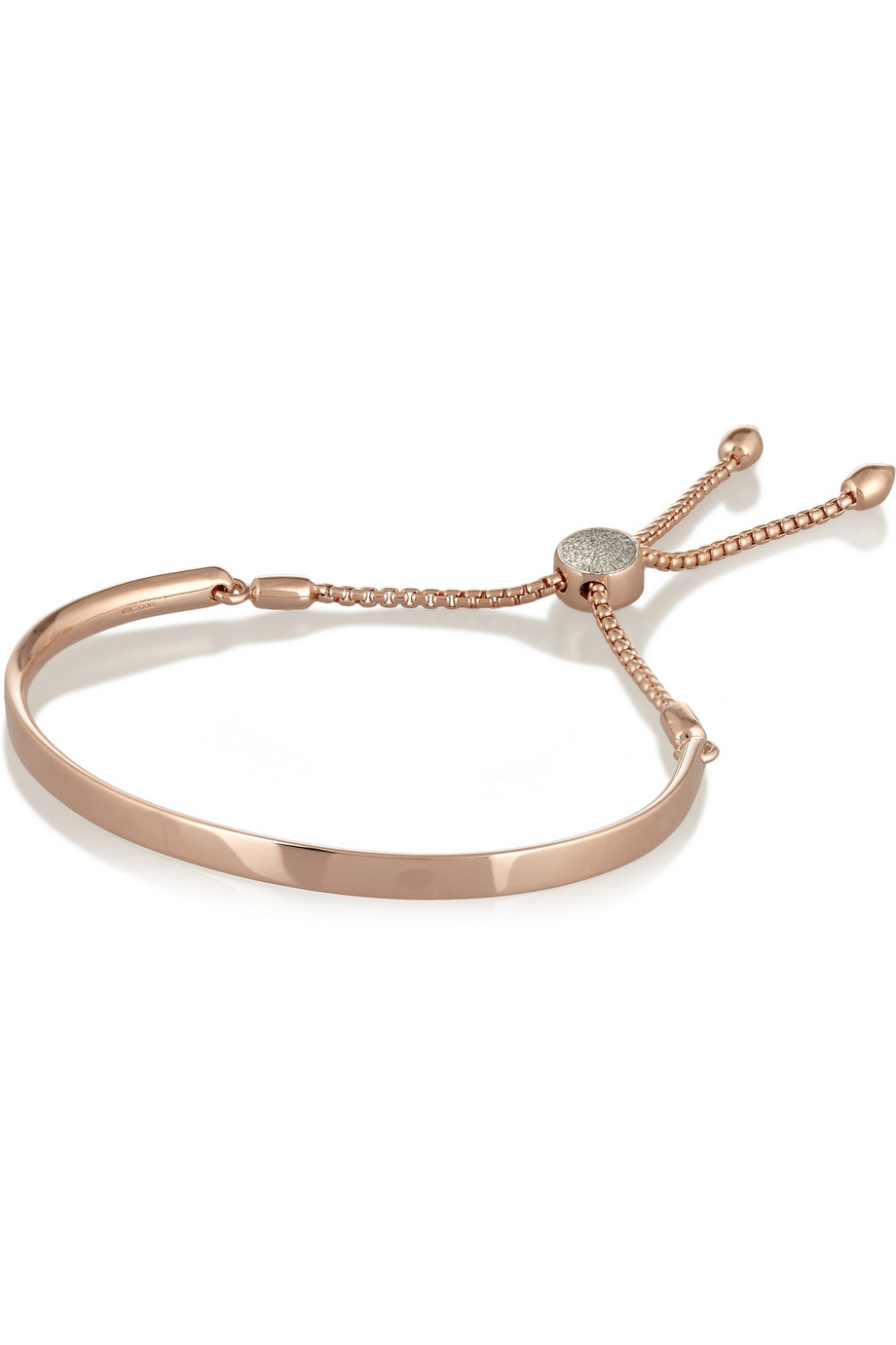 Diamond Anklet With Toe Ring Lc00035 In Anklets From: Monica Vinader Fiji Rose Gold-Plated Diamond