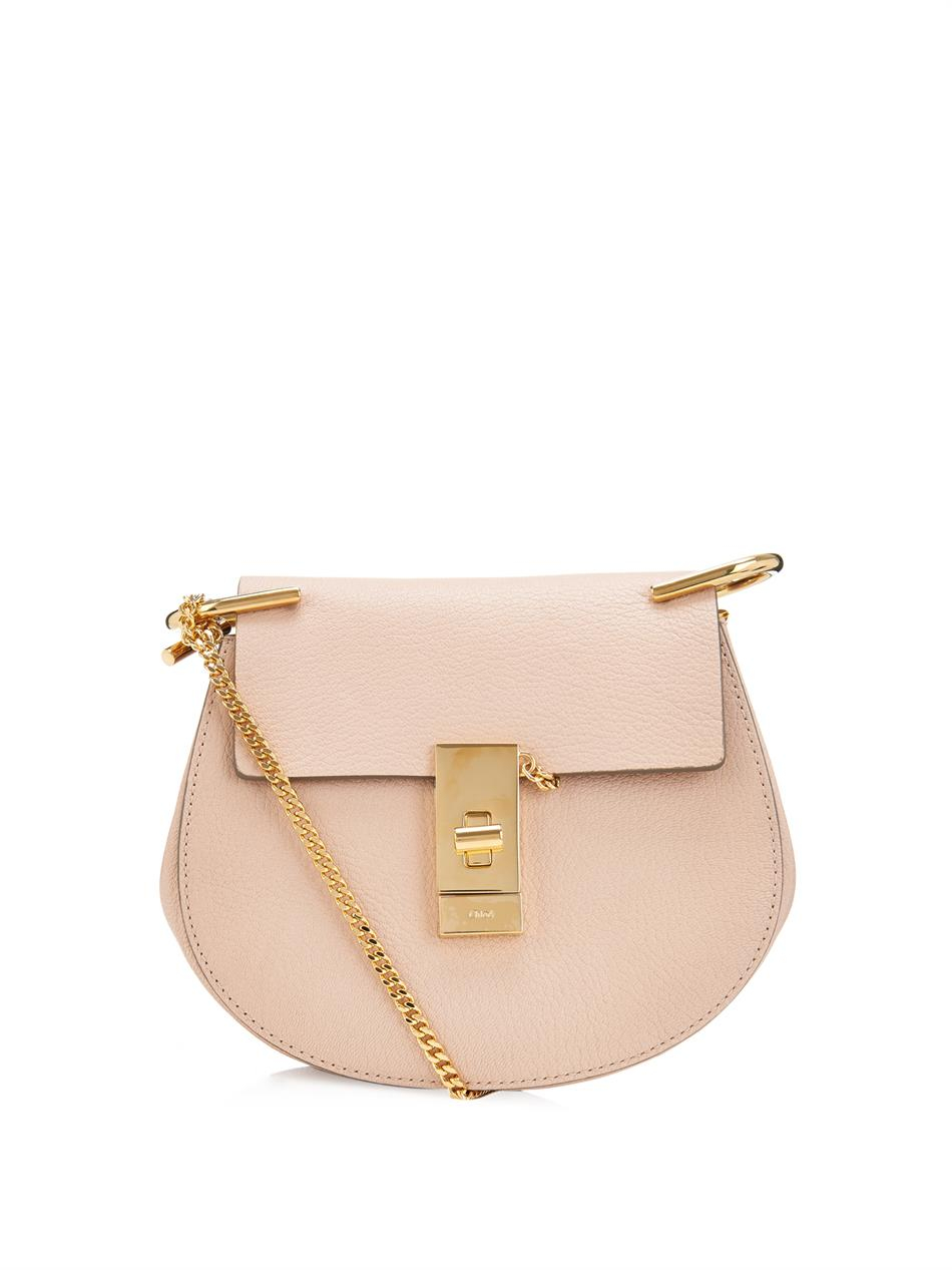 Chlo¨¦ Drew Mini Leather Shoulder Bag in Pink | Lyst