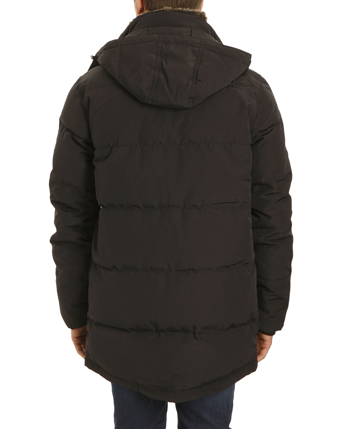 tommy hilfiger doug nylon black patched pocket parka in black for men. Black Bedroom Furniture Sets. Home Design Ideas